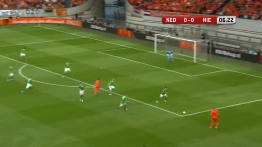 Mirá la goleada de Holanda 6 - Irlanda (Nor) 0.