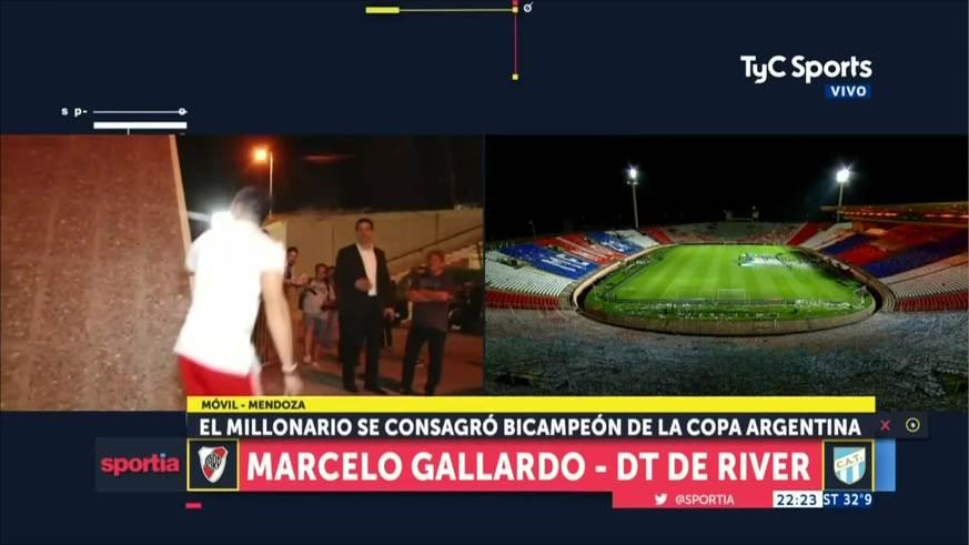 Gallardo habló luego de la obtención de la Copa