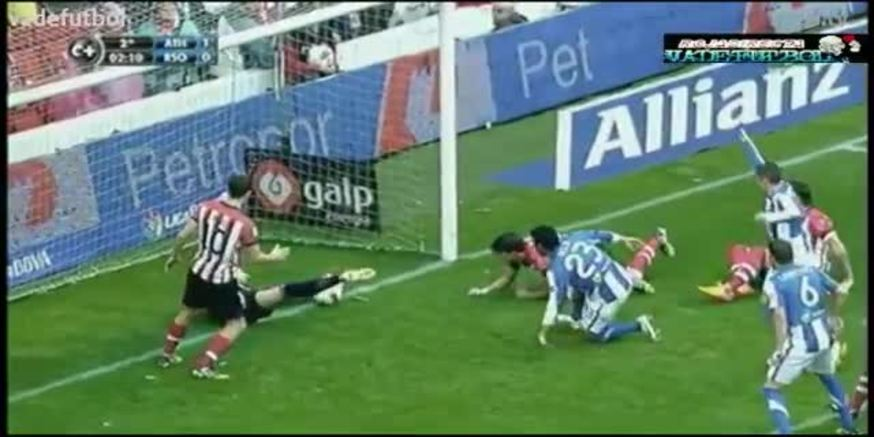Mirá la jugada polémica, en la que no le dieron el gol a Real Sociedad.