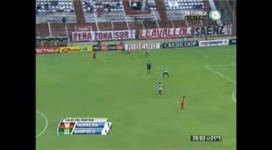 Los goles de Huracán 1 - Banfield 1.