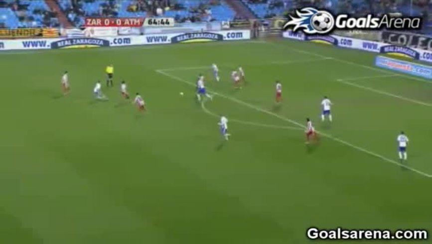Gol del Kun Agüero contra Zaragoza.
