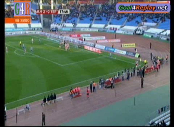 Mirá el gol de Bernardello al Espanyol. (Goal4replay.net)