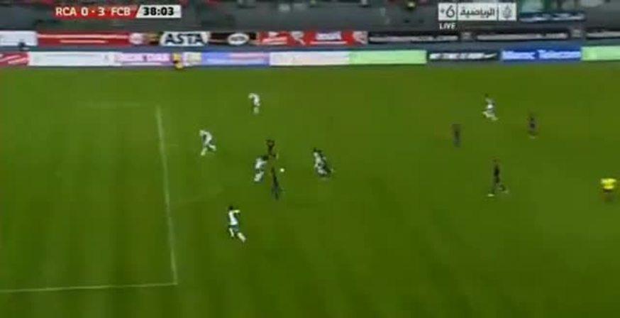 Lo armó y lo definió. Mirá el segundo gol de Messi.