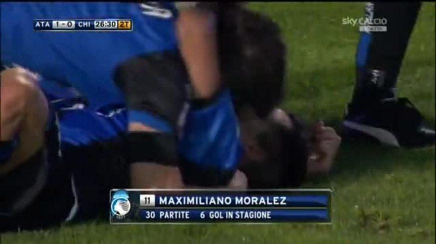 Mirá el golazo de Frasquito Moralez para Atalanta 1- Chievo 0.
