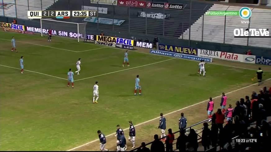 Dura pelea entre los jugadores de Quilmes y Arsenal