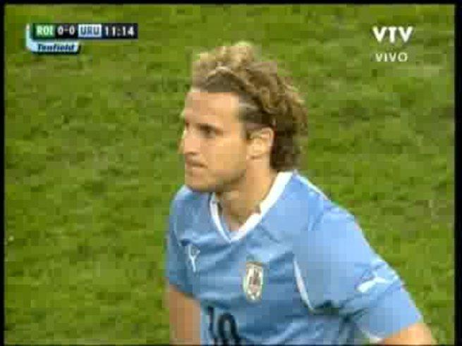 La victoria de Uruguay ante Irlanda por 3-2.