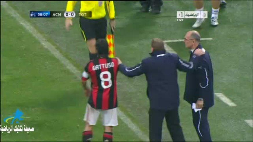 Mirá el momento en el que se le sale la cadena a Gattuso. (youtube)