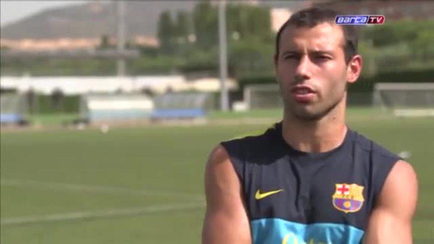 Mascherano cumplirá 100 partidos con el Barcelona.