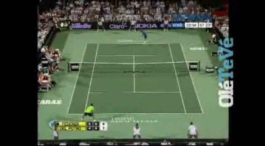 Mirá la definición del partido entre Delpo y Federer.