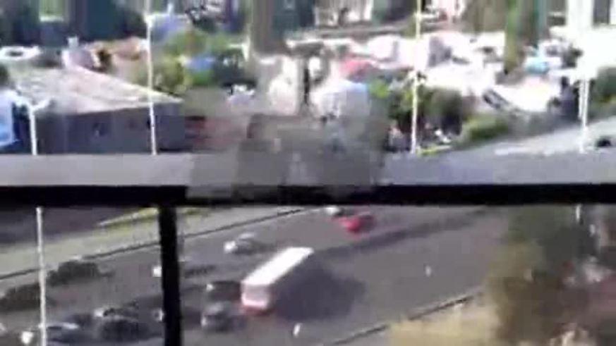 Los incidentes entre hinchas de River y Colón.