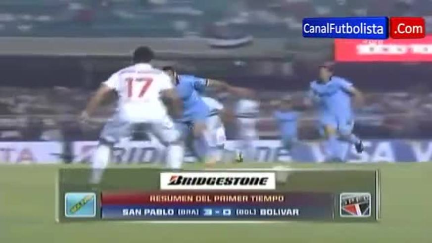 Mirá los goles de San Pablo 5 - Bolívar 0.