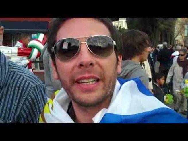 La fe de los hinchas uruguayos.