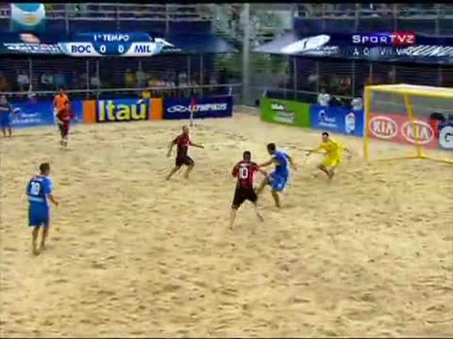 Los goles de Boca Vs. Milan en el Mundial de Clubes de playa.