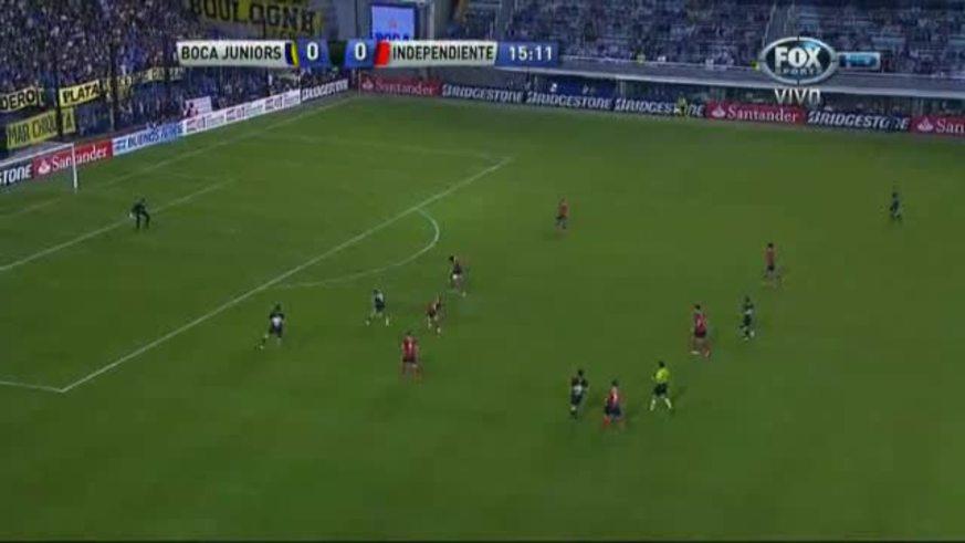 El Pelado Silva puso el 1 a 0 para Boca (Youtube).