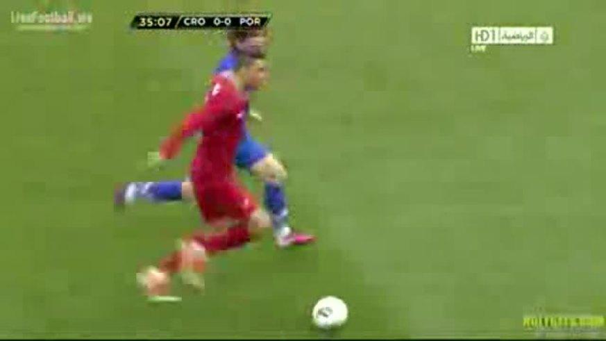 El gol del 1-0 de Ronaldo a Croacia