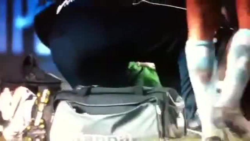 Mirá la lesión del árbitro en Francia.