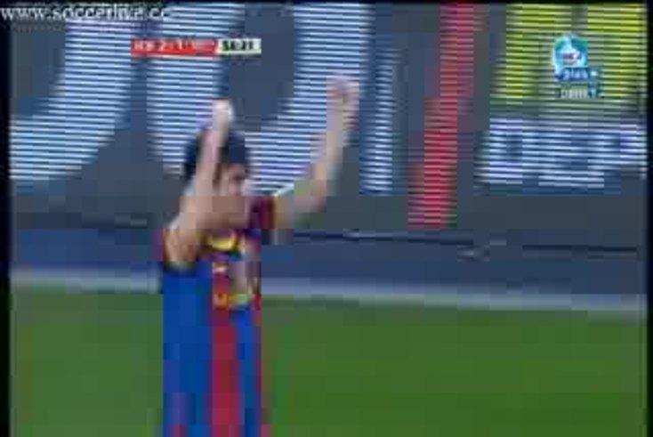 Mirá el golazo de Messi al Villarreal.