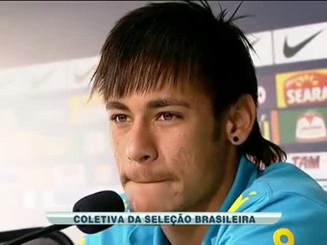 Neymar en conferencia.