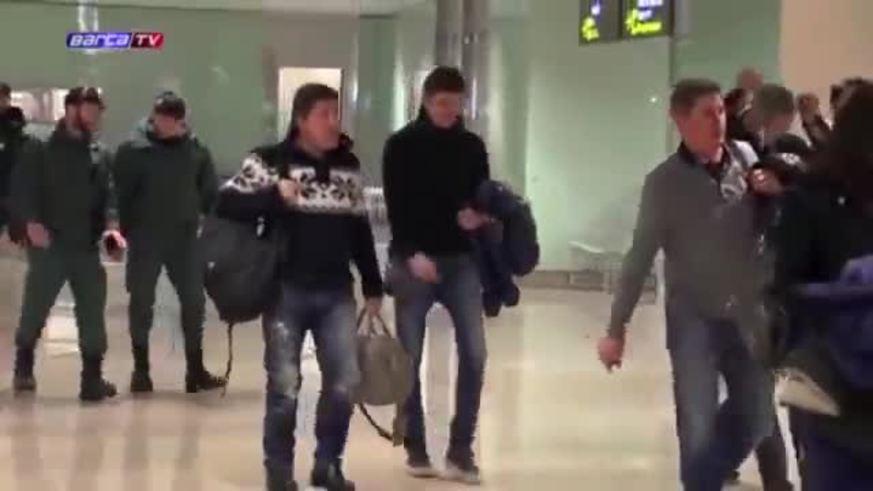 Vilanova en el aeropuerto.