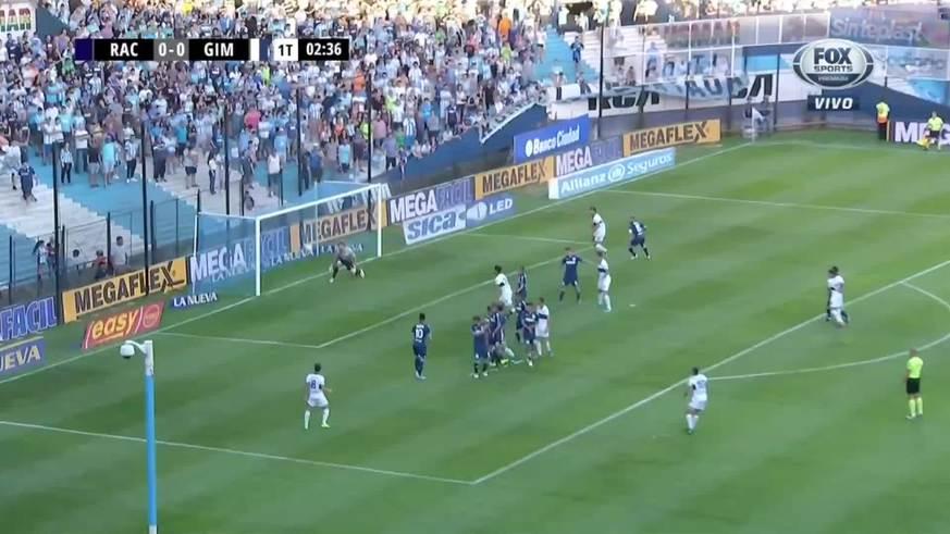 Alemán abrió el partido con un golazo