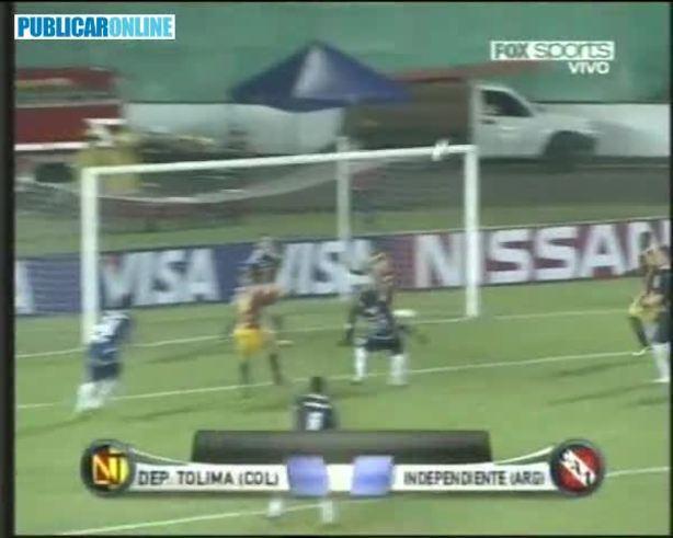 Los goles del 2-2 de Independiente.
