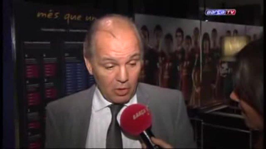Sabella vio en vivo a Messi en Barcelona, ante Betis.