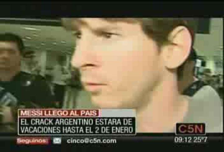 La llegada de Lionel Messi (video de C5N)