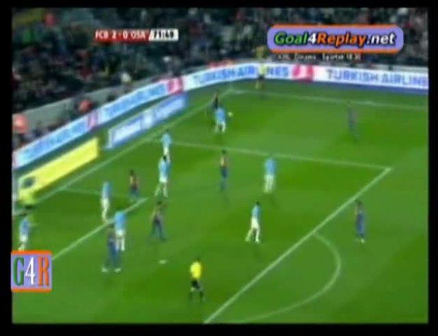 Mirá el primer gol de Messi al Osasuna.