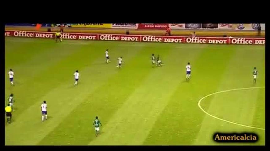 El gol de Abelairas en Puebla 1 - León 1.