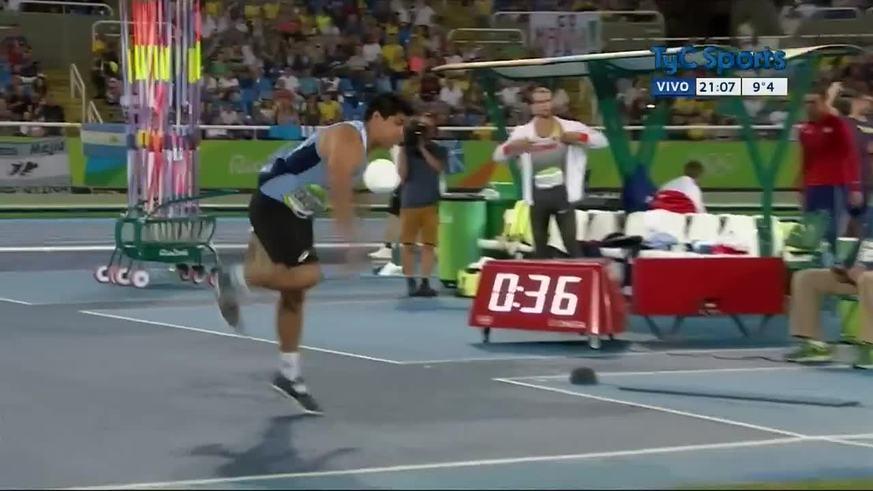 Los lanzamientos de Braian Toledo en la final de Río