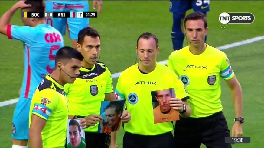 El homenaje a los árbitros agredidos