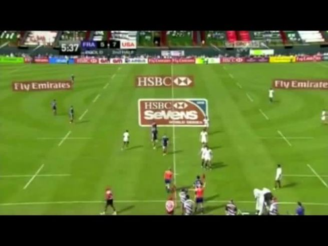 Mirá cómo corre Carlin Isles jugando al rugby.