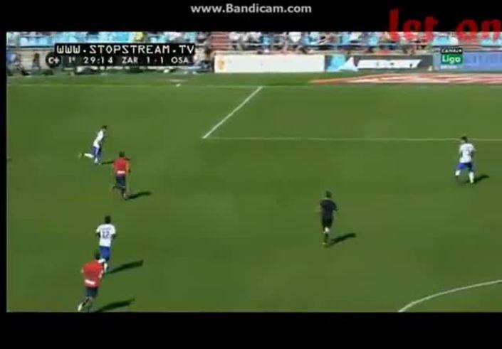 Mirá el golazo de Armenteros al Zaragoza.