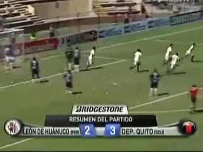 Mirá el resumen de León de Huánuco 3 - Deportivo Quito 2.