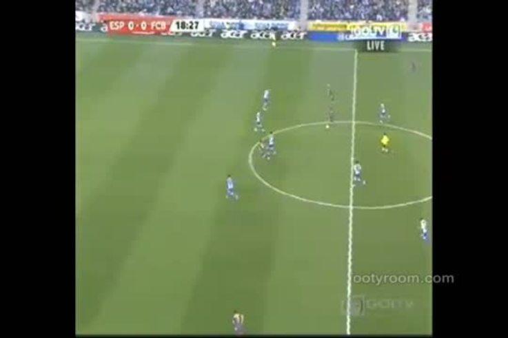 La goleada del Barcelona sobre el Espanyol. (youtube)