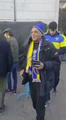 Giordano entrando al Santiago Bernabéu
