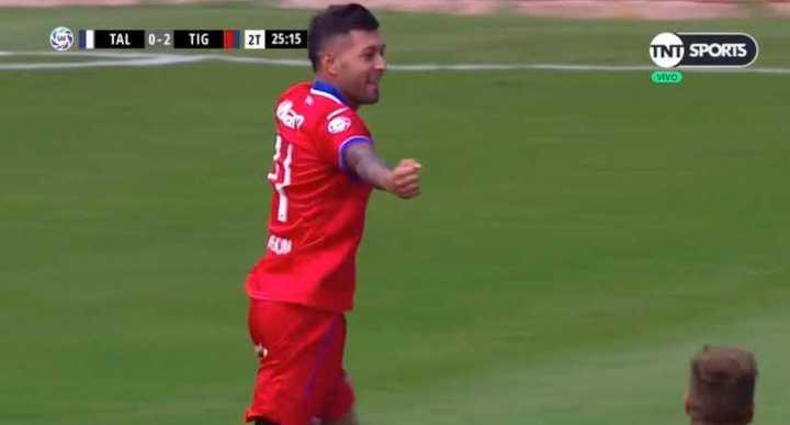 Janson marcó el tercero para la goleada de Tigre