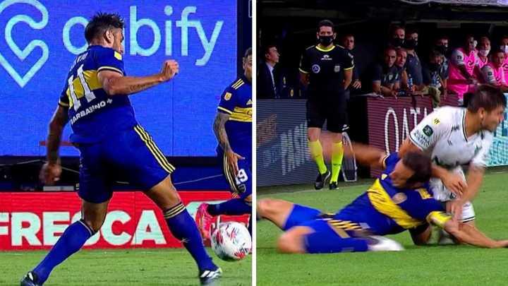 Dos jugadores de Boca accidentados en una misma jugada