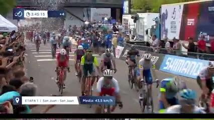 Ajustada primera llegada en la Vuelta a San Juan