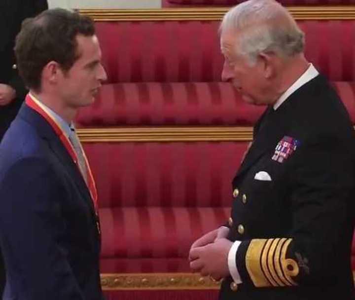 Andy Murray fue declarado Caballero por el Príncipe Carlos