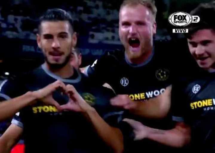 Golazo argentino: Barcia puso el 1-0 para el Team Wellington