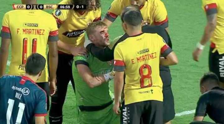 Tremendo choque en la Libertadores