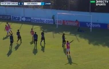 El 1-0 de Los Andes a Villa San Carlos