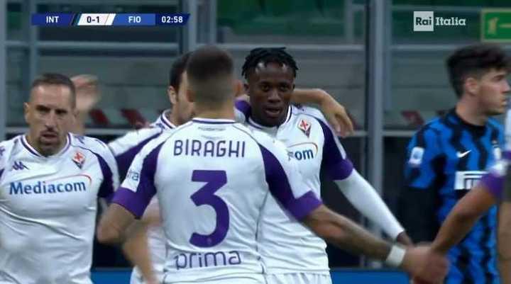 Fiorentina se puso arriba ante Inter