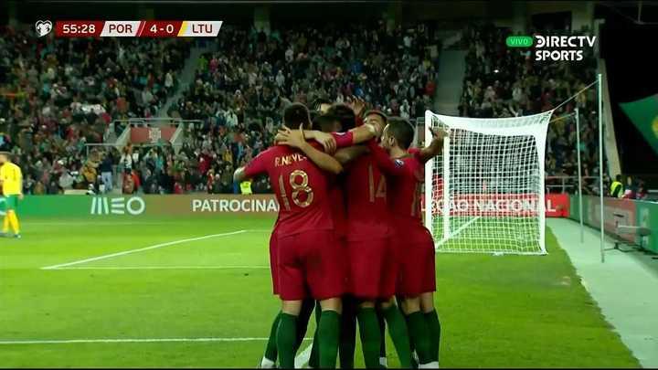 Portugal marcó el 4 a 0