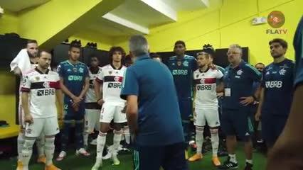 La motivadora arenga de Torrent a los jugadores del Flamengo