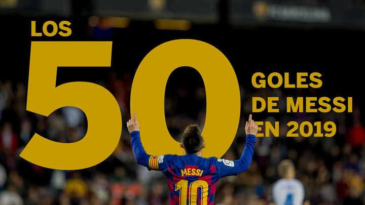 Los 50 goles de Messi en 2019