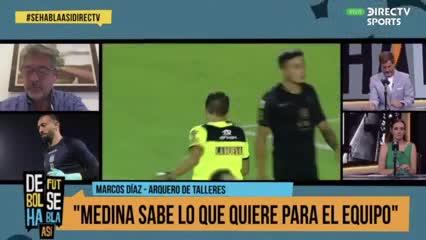"""Marcos Díaz: """"Me puso contento que Nadur se haya ido"""""""