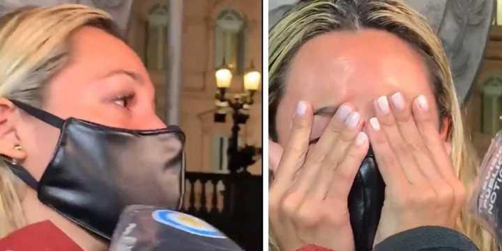 Rocío Oliva lloró porque no la dejaron entrar