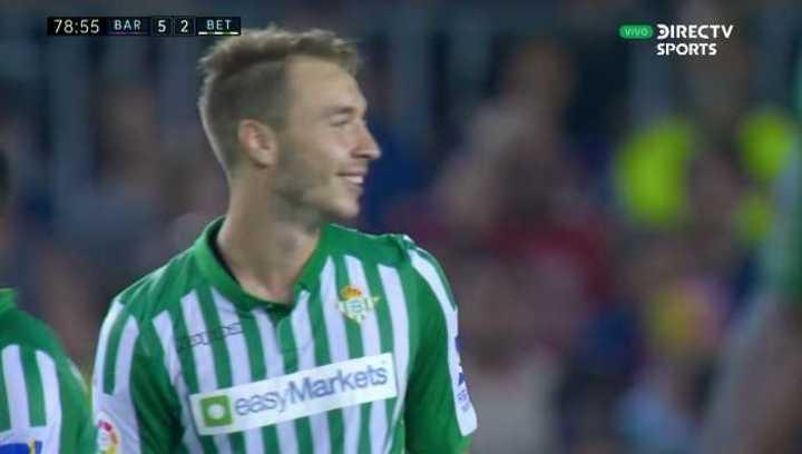 Morón descontó para Betis con un golazo